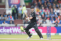 James Neesham (New Zealand) dabs to third for a single during India vs New Zealand, ICC World Cup Semi-Final Cricket at Old Trafford on 9th July 2019