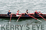 Maunza Heidke, Aoife Ní Mhuirtheartaigh, Elaine Waters and Gillian O'Brien (Dingle) after winning the Senior Women race at the Regatta Fionn Trá, Ventry, on Sunday afternoon.