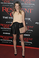 www.acepixs.com<br /> <br /> January 23 2017, LA<br /> <br /> Lauren Shaw arriving at the premiere of 'Resident Evil: The Final Chapter' at the Regal LA Live on January 23, 2017 in Los Angeles, California.<br /> <br /> By Line: Peter West/ACE Pictures<br /> <br /> <br /> ACE Pictures Inc<br /> Tel: 6467670430<br /> Email: info@acepixs.com<br /> www.acepixs.com