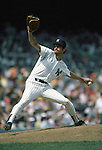 UNDATED:  Ron Guidry #49 of the New York Yankees throws the pitch during a season game. Ron Guidry played for the New York Yankees from 1975-1988. (Photo by Rich Pilling)