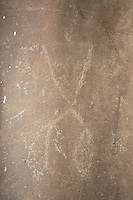 Human Figure Hawaiian Petroglyph, Nuuanu, Honolulu, Oahu, Hawaii