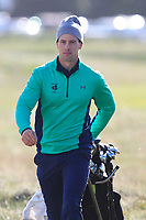 Alex Gleeson from Ireland on the 11th fairway after Round 1 Foursomes of the Men's Home Internationals 2018 at Conwy Golf Club, Conwy, Wales on Wednesday 12th September 2018.<br /> Picture: Thos Caffrey / Golffile<br /> <br /> All photo usage must carry mandatory copyright credit (&copy; Golffile | Thos Caffrey)