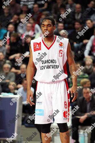 2010-02-13 / Basketbal / seizoen 2009-2010 / Antwerp Giants - Luik / Thomas Gardner..Foto: mpics