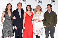 "Rachel Stirling, Bill Nighy, Gemma Arterton, director Lone Scherfig and Sam Claflin<br /> at the London Film Festival photocall for ""Their Finest"", Mayfair Hotel, London.<br /> <br /> <br /> ©Ash Knotek  D3177  13/10/2016"