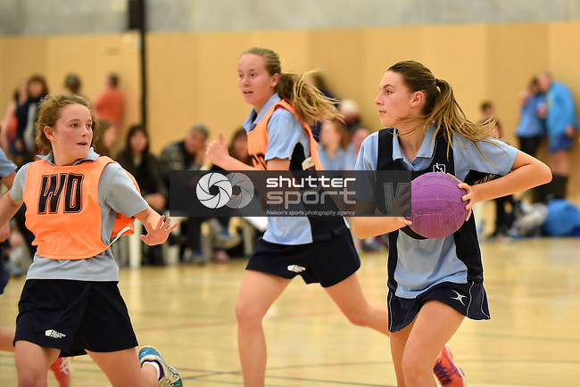 NELSON, NEW ZEALAND - SEPTEMBER 17: Netball Finals Day, Saxton Stadium, Nelson, New Zealand, Saturday 17 September (Photo by: Barry Whitnall Shuttersport Limited)
