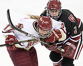 Danielle Welch (BC - 17), ? - The Boston College Eagles defeated the Harvard University Crimson 3-1 to win the 2011 Beanpot championship on Tuesday, February 15, 2011, at Conte Forum in Chestnut Hill, Massachusetts.