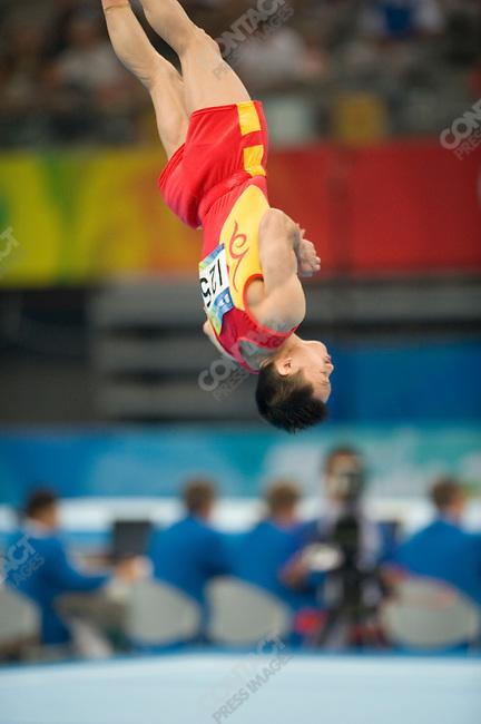 Men's Team Gymnastics, qualifications, Yang Wei (China), Summer Olympics, Beijing, China, August 09, 2008
