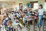 Teacher Maria Kerrisk teaches class in one of the prefabs at Bhreanainn National school on Wednesday