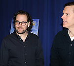 Director Sam Gold and Playwright Will Eno attending 'The Realistic Joneses'  Meet & Greet  at The New 42nd Street Studios on February 20, 2014 in New York City.
