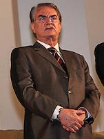 SAO PAULO, 08 DE AGOSTO DE 2012. POSSE DE 200 NOVOS DELEGADOS.  O governador Geraldo Alckmin e secretario de segurança de sp, Antonio Ferreira Pinto, durante a cerimônia de posse de 200 novos delegados no Palacio dos Bandeirantes na manhã desta quarta feira. FOTO ADRIANA SPACA - BRAZIL PHOTO PRESS