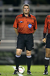 17 October 2014: Referee John McCloskey. The Duke University Blue Devils hosted the Notre Dame University Fighting Irish at Koskinen Stadium in Durham, North Carolina in a 2014 NCAA Division I Men's Soccer match. Notre Dame won the game 4-1.