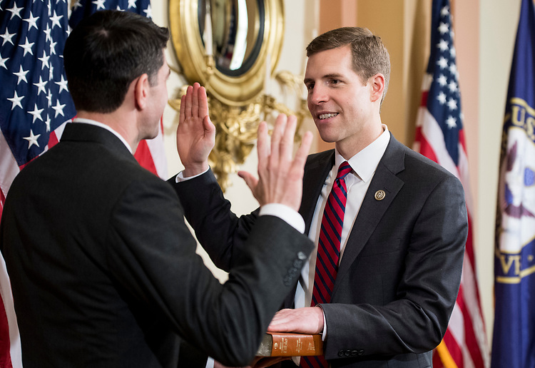 UNITED STATES - APRIL 12: Speaker of the House Paul Ryan, R-Wisc., holds a swearing-in ceremony for Rep.-elect Conor Lamb, D-Pa., in the Capitol on Thursday, April 12, 2018. (Photo By Bill Clark/CQ Roll Call)