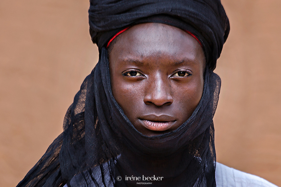 Hausa boy  portrait from the Durbar in Argungu