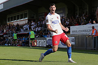 Joe Quigley of Dagenham and Redbridge scores the first goal for his team and celebrates during Dagenham & Redbridge vs Hartlepool United, Vanarama National League Football at the Chigwell Construction Stadium on 14th September 2019
