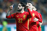 Spain's Isco Alarcon celebrates goal during FIFA World Cup 2018 Qualifying Round match. March 24,2017.(ALTERPHOTOS/Acero)