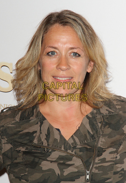 Sarah Beeny<br /> UK Premiere of 'Justin and the Knights of Valour' held at the Mayfair Hotel, London , England.<br /> headshot portrait green camouflage jacket grey gray<br /> CAP/ROS<br /> &copy;Steve Ross/Capital Pictures
