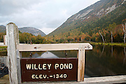 Crawford Notch State Park - Willey Pond which is located along the Saco River in the White Mountains, New Hampshire USA.