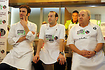 Vitoria Gasteiz-Capital de la Gastronomia 2014.<br /> Presentacion en Barcelona-Mercat de la Boqueria.<br /> Senen Gonzalez, Mikel Zuazo &amp; Enrique Fuentes.