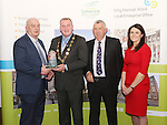 WITH COMPLIMENTS.  Attending the  Entrepreneur of the Year 2016 in the  Limerick Final of the National Enterprise Awards at a ceremony in the Dunraven Arms Hotel, Adare were Cllr. Liam Galvin, Mayor of Limerick City and County Council presents the Best Manufacturing Business award to Liam Hayes, Bespoke Sauce Company Ltd.  Also in the photograph are Eamon Ryan, Head of Enterprise, Local Enterprise Office Limerick and Ciara Finlay, Local Enterprise Office. Bespoke Sauce Company Ltd T/A Global Sauces was set up by Liam Hayes and Vincent Sheahan in 2013. Both identified an opportunity to develop bespoke sauce products for the food industry as current large suppliers in the market were interested only in high volume mainstream products, leaving a supply niche for customers sourcing low volume, high quality, bespoke products. The Company has been trading successfully for the past 2 years.<br />Bespoke Sauce has quickly gained a market share in Ireland. The company has technical expertise and has built a reputation for offering and producing quality products that customers require. The company currently supply to food manufacturers all over Ireland, including Northern Ireland. The Bespoke Sauce Company is targeting the UK market and is currently in negotiations to form a partnership with a UK group there.  The company plan to increase employment to 10 people in 2016.<br />Photograph Liam Burke/Press 22