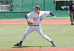 April 28, 2012:   Nevada Wolf Pack first baseman Kewby Meyer throws home against the  Fresno State Bulldogs during their NCAA baseball game played at Peccole Park on Saturday afternoon in Reno, Nevada.