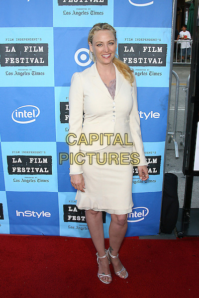 """VIRGINIA MADSEN.2006 Los Angeles Film Festival Opening Night - """"The Devil Wears Prada"""" Premiere held at the Mann Village Theater, Westwood, California, USA..June 23rd, 2006.Photo: Zach Lipp/AdMedia/Capital Pictures.Ref: ZL/ADM.full length white skirt jacket.www.capitalpictures.com.sales@capitalpictures.com.© Capital Pictures."""