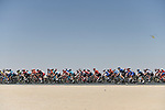 The peloton in action during Stage 3 The Emirates Stage of the UAE Tour 2020 running 184km from Al Qudra Cycle Track to Jebel Hafeet, Dubai. 25th February 2020.<br /> Picture: LaPresse/Fabio Ferrari   Cyclefile<br /> <br /> All photos usage must carry mandatory copyright credit (© Cyclefile   LaPresse/Fabio Ferrari)