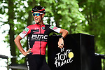 Richie Porte (AUS) BMC Racing Team at sign on before the start of Stage 9 of the 104th edition of the Tour de France 2017, running 181.5km from Nantua to Chambery, France. 9th July 2017.<br /> Picture: ASO/Alex Broadway | Cyclefile<br /> <br /> <br /> All photos usage must carry mandatory copyright credit (&copy; Cyclefile | ASO/Alex Broadway)