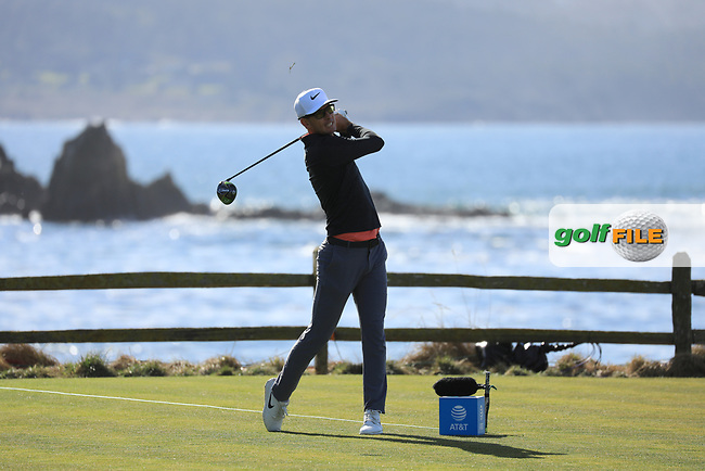 Dylan Frittelli (RSA) during the first round of the AT&amp;T Pro-Am, Pebble Beach Golf Links, Monterey, California, USA. 07/02/2019<br /> Picture: Golffile | Phil Inglis<br /> <br /> <br /> All photo usage must carry mandatory copyright credit (&copy; Golffile | Phil Inglis)