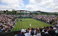 A general view of Court 3<br /> <br /> Photographer Rob Newell/CameraSport<br /> <br /> Wimbledon Lawn Tennis Championships - Day 2 - Tuesday 2nd July 2019 -  All England Lawn Tennis and Croquet Club - Wimbledon - London - England<br /> <br /> World Copyright © 2019 CameraSport. All rights reserved. 43 Linden Ave. Countesthorpe. Leicester. England. LE8 5PG - Tel: +44 (0) 116 277 4147 - admin@camerasport.com - www.camerasport.com