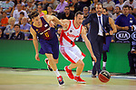 League ACB-ENDESA 2017/2018. Game: 1.<br /> FC Barcelona Lassa vs Baskonia: 87-82.<br /> Thomas Heurtel vs Marcelinho Huertas.