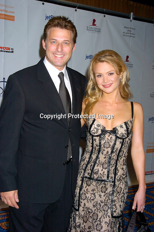 Lauren Woodland and fiance Gary Hecker ..at the 10th Annual Daytime Television Salutes St. Jude Children's Research Hospital Benefit on October 8, 2004 at the Marriott Marquis Hotel in New York City...Photo by Robin Platzer, Twin Images