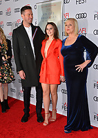 "LOS ANGELES, CA. November 08, 2018: Armie Hammer, Felicity Jones & Mimi Leder at the AFI Fest 2018 world premiere of ""On the Basis of Sex"" at the TCL Chinese Theatre.<br /> Picture: Paul Smith/Featureflash"