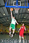 Kieran Donaghy St Brendan's lays up during the Senior Men's final against St Mary's  at St Mary's Basketball blitz in Castleisland on Thursday