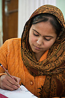 Dehradun, India. Indian Muslim Woman with Nose-ring.