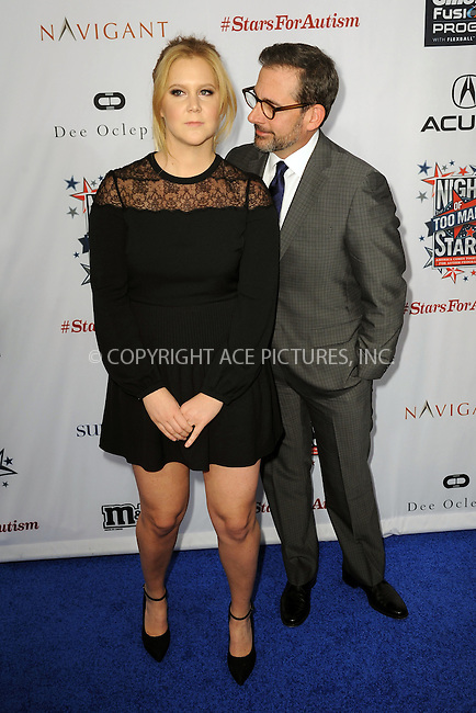 WWW.ACEPIXS.COM<br /> February 28, 2015 New York City<br /> <br /> Amy Schumer and Steve Carell attending Comedy Central Night Of Too Many Stars at Beacon Theatre on February 28, 2015 in New York City.<br /> <br /> Please byline: Kristin Callahan/AcePictures<br /> <br /> ACEPIXS.COM<br /> <br /> Tel: (646) 769 0430<br /> e-mail: info@acepixs.com<br /> web: http://www.acepixs.com