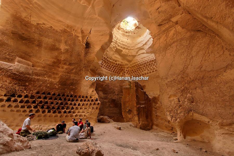 Israel, Luzit Caves in the Shephelah region