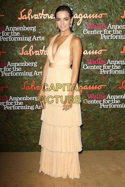Camilla Belle<br /> Wallis Annenberg Center For The Performing Arts Inaugural Gala held at Wallis Annenberg Center For The Performing Arts,  Beverly Hills, California, USA, 17th October 2013.<br /> full length beige cream long maxi dress tiered nude low cut layered <br /> CAP/ADM/KB<br /> &copy;Kevan Brooks/AdMedia/Capital Pictures