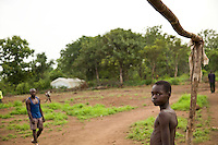 Portrait of refugees in Makpandu refugee camp,  44 km from Yambio, South Sudan.. The camp was established for refugees fleeing LRA attacks in Congo. Many other congolese refugees have found shelter amoung fellow Zande  families in towns and villages along the Congo Sudan border.