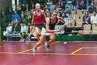 Camille Serme (FRA) vs. Alison Waters (ENG) in the women's quarterfinals of the 2014 METROsquash Windy City Open held at the University Club of Chicago in Chicago, IL on March 1, 2014