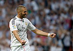 """Spanish  League""- match Real Madrid Vs FC Barcelona- season 2014-15 - Santiago Bernabeu Stadium - Karim Benzema (Real Madrid) Celebrates a goal during the Spanish League match against FC Barcelona(Photo: Guillermo Martinez/Bouza Press/ALTERPHOTOS)"