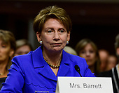 Barbara M. Barrett testifies on her nomination to be Secretary of the Air Force before the United States Senate Committee on Armed Services on Capitol Hill in Washington, DC on Thursday, September 12, 2019.<br /> Credit: Ron Sachs / CNP