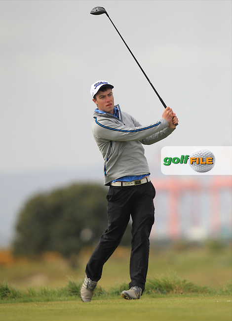 Jack McDonnell (Forrest Little) on the 3rd tee during Round 2 of the Flogas Irish Amateur Open Championship at Royal Dublin on Friday 6th May 2016.<br /> Picture:  Thos Caffrey / www.golffile.ie