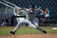 Coastal Carolina Chanticleers relief pitcher Josh Jarman (32) in action against the Duke Blue Devils at Segra Stadium on November 2, 2019 in Fayetteville, North Carolina. (Brian Westerholt/Four Seam Images)