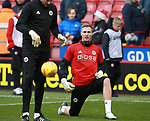 Simon Moore of Sheffield Utd warms up during the Championship match at Bramall Lane Stadium, Sheffield. Picture date 30th December 2017. Picture credit should read: Simon Bellis/Sportimage