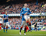 Andy Halliday celebrates his penalty goal