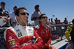 Justin Wilson and Katherine Legge at the Time Warner Cable Road Runner 225 Champ Car at the Milwaukee Mile, 2006