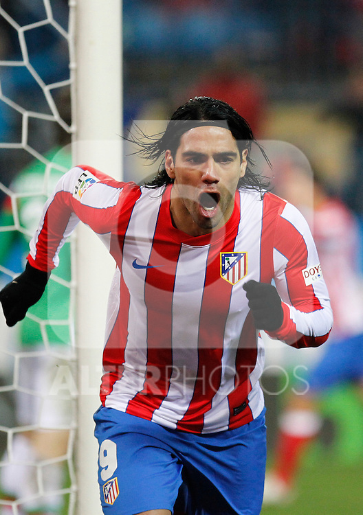 Madrid 21/03/2012.- Estadio Vicente Calderon..Liga BBVA..Atco.Madrid - Athletic Club.Falcao...©Alex Cid-Fuentes/ALFAQUI FOTOGRAFIA.........
