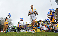 George Smith and the rest of the Wasps team run out onto the field. Aviva Premiership match, between Bath Rugby and Wasps on February 20, 2016 at the Recreation Ground in Bath, England. Photo by: Patrick Khachfe / Onside Images