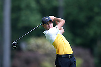 SAPPHIRE, NC - OCTOBER 01: Adrian Vagberg of Virginia Commonwealth University tees off at The Country Club of Sapphire Valley on October 01, 2019 in Sapphire, North Carolina.