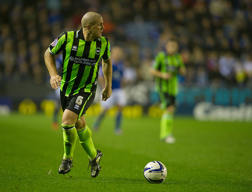 Brighton and Hove Albion's Adam El-Abd ..Football - npower Football League Championship - Leicester City v Brighton and Hove Albion - Tuesday 23rd October 2012 - King Power Stadium - Leicester..